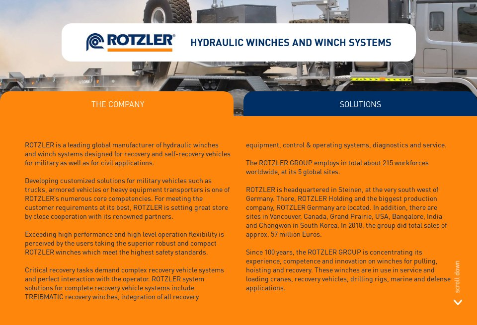 Rotzler Holding - Global Defence Technology | Issue 100 | June 2019