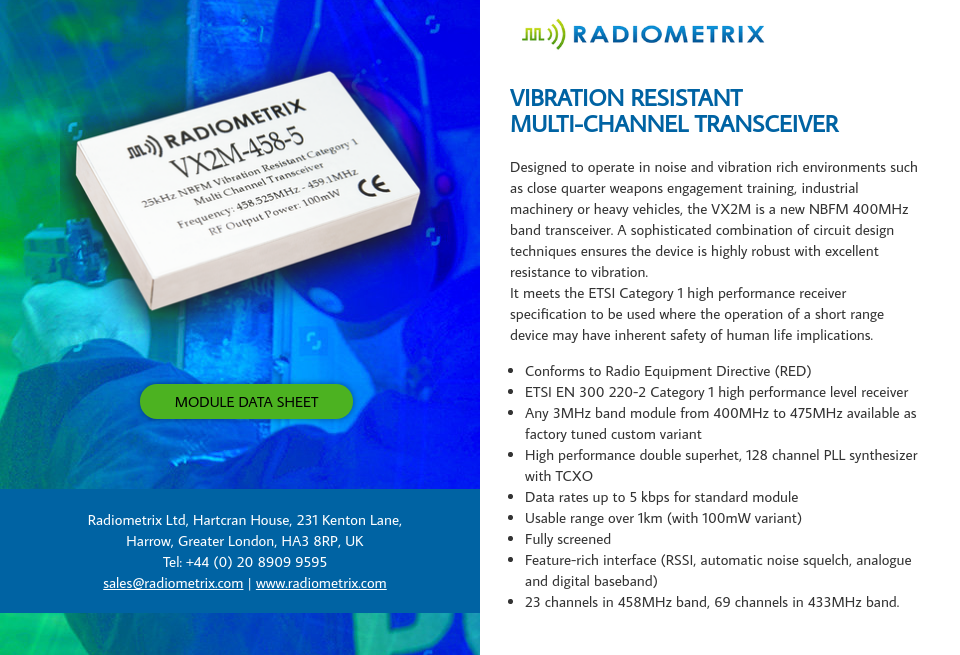 Radiometrix Limited - Global Defence Technology
