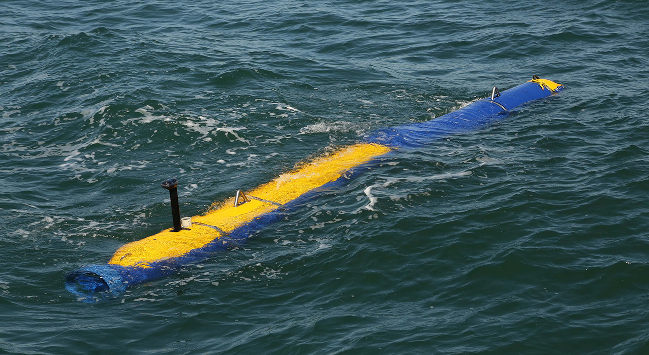 General Dynamics Knifefish UUV during testing