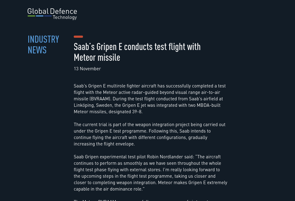 Industry news - Global Defence Technology | Issue 93